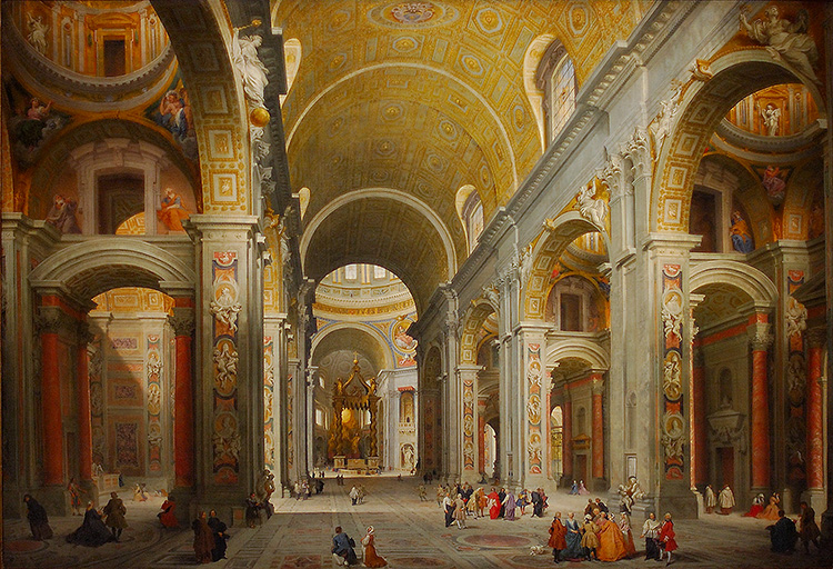 Pannini_Interior_ofStPeters_1376