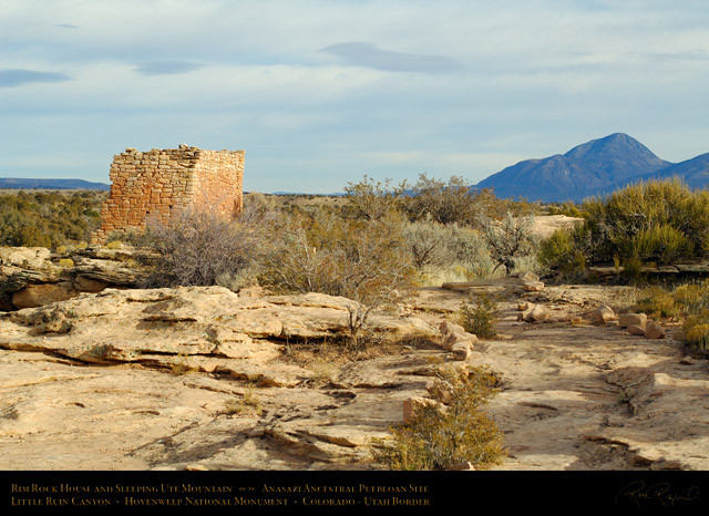 Hovenweep_Rim_Rock_House_and_Sleeping_Ute_Mountain_X9863