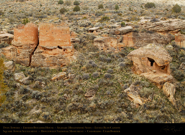 Hovenweep_Twin_Towers_Eroded_Boulder_X9831