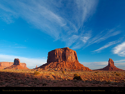 Monument_Valley_Sunrise_Merrick_Butte_and_Mittens_X9930