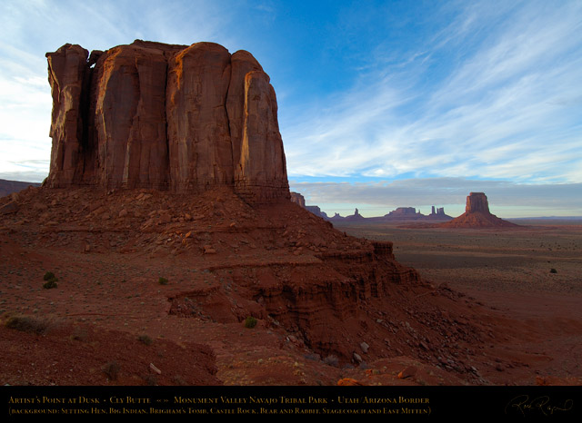 Monument_Valley_Cly_Butte_Artist's_Point_at_Dusk_X1661