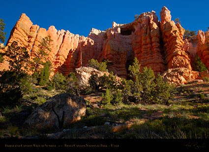 Bryce_Canyon_Fairyland_Wall_at_Sunrise_X1808